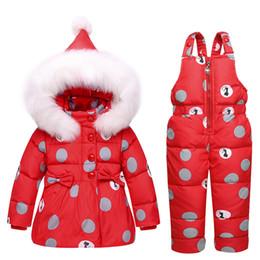Wholesale Parka Pants - Winter Children Clothing Sets Girls Warm Parka Down Jacket Baby Coat+Pants Snowsuits Kids Suits