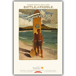 Wholesale Custom Landscapes - Summer Water Sports Classic Posters Surf Forward Landscape Silk Painting Canvas Art Bedroom Deco Custom YD362