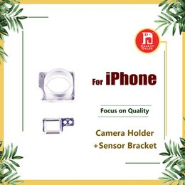 Support de capteur en Ligne-Pour iPhone 4 4S 5 5C 5S SE 6 6S 7 Plus avant support en plastique de la caméra Clip Anneau Proximité Capteur de lumière titulaire support