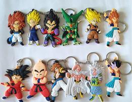 Caliente ! 8 Estilo 5 cm PVC Dragon Ball llavero Son Goku Serie Colgante Classic Cartoon Keyring Gifts desde fabricantes