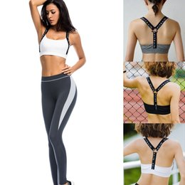 Wholesale Push Up Top Sport - New Fitness Tops Print Letter Bras Women's Sports Shirts Yoga Gym Vest Push Up Lady Crop Tops Shakeproof Bra