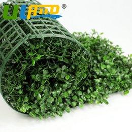 Tapis de buis en plastique artificiel en Ligne-Uland en plastique buis artificiel 24 panneaux 25x25cm plantes décoratives haies en plastique buis haies tapis de jardin ornements G0602a001