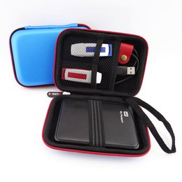 """Wholesale Banks Data - Portable Square Travel Storage Bag For 2.5"""" HDD Case Power Bank Organizer Case Pouch For U Disk SD Card Charger Data Cable Phone"""