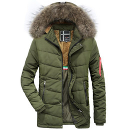 8c5c93b1178c4 2018 Winter long coat men fur hood warm trench overcoat tactical bomber  army outwear parkas men s brand thicken plus velvet coat