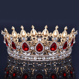 crown royal Promo Codes - Luxury Bridal Crown Rhinestone Crystals Royal Wedding Crowns Princess Crystal Hair Accessories Birthday Party Tiaras Quinceaner Sweet 16