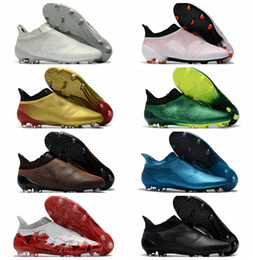 Wholesale Hot Pink Ankles - 2018 mens soccer shoes X 17 Purechaos FG original high ankle soccer cleats Ace 17 Purecontrol football boots Purespeed Confed Cup cheap Hot