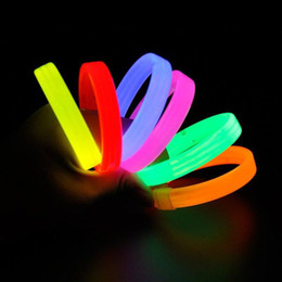 Wholesale Silicone Bracelet Mosquito - Silicone Luminous Colorful Sports Hand Ring Noctilucent Wrist Strap Mosquito Repellent Wristband Night Signal Toy Bracelet 0 45xs W
