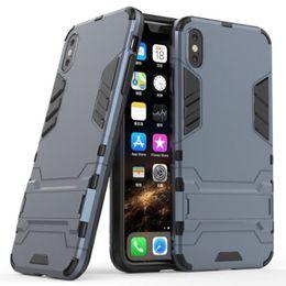 Argentina La caja del teléfono híbrido para Iphone 11 Pro X XR XS Max 8 7 6s además S10 S9 Nota 9 del marco de TPU + sostenedor de la PC Defender cubierta de Shell Armor protector GSZ113 supplier frame for lg Suministro
