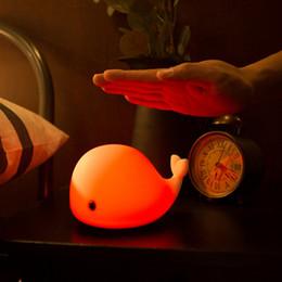 Lumière de nuit rechargeable mignon de contact de dauphin d'USB Lampe de nuit légère de silicone multicolore de LED pour le bureau de chambre à coucher d'enfant ? partir de fabricateur