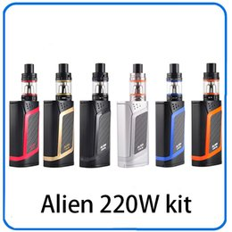 Wholesale Blue Beast - Alien Kit Alien 220W TC Starter Kit With TFV8 Baby Beast 3ml Alien 220 Box Mod Electronic Cigarette Vaping Kit