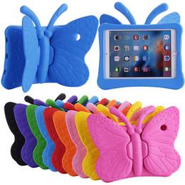 2020 ipad 3d 3D Borboleta À Prova de Choque Bonito Caso EVA Espuma Macia Stander portátil Capa para Crianças ipad 2 3 4 ipad 5 6 ipad mini 1 2 3 4 desconto ipad 3d