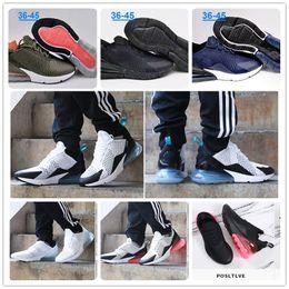 Wholesale Medium Tan - 2018 Wholesale high quality Mens Air Flair Triple Black 270 AH8050 Trainer Sports Running Shoes Womens air sole 270 Sneakers Free shipping