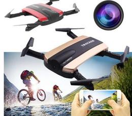 Wholesale Jxd Wifi - JXD523 Tracker Foldable Quadcopter Phone app control RC JJRC H37 6-Axis Gyro WIFI FPV HD Camera RC Quadcopter G-sensor Selfie Drone JXD 523