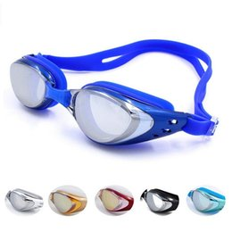 Yüzme Su Geçirmez Gözlük Kaplama Aynalı Spor Su Spor Anti Sis Anti UV Su Geçirmez Yüzme Gözlüğü Gözlük nereden