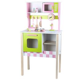 Giocattoli di legno della cucina del bambino online-Gioco da cucina in legno Gioco da cucina Kids Pretend Gioco da regalo in legno Playset in legno