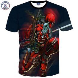 Wholesale Deadpool T Shirt - Mr.1991INC New American Comic Badass Deadpool T-Shirt Tees Men Women Cartoon Characters 3d t shirts Casual tee shirts