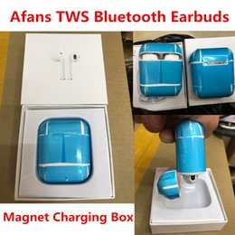Wholesale high quality earpiece - Afans Ifans High Quality TWS Bluetooth Earphones Sports Mini Twins True Wireless Headset Earbuds Earpiece In-ear Hands Free For I7 I7S