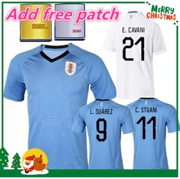 Wholesale Uruguay Soccer - Best quality URUGUAY 2018 SUAREZ Soccer Jerseys D.GODIN E.CAVANI URUGUAY home 18 19 World Cup football shirt J.M.Giménez De Arrascaeta
