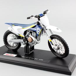 Wholesale Diecast 18 - Scala 1 18 mini KTM Husqvarna FC 450 Moto Enduro corsa Diecast modellazione Motocross Replica in metallo auto modello di auto giocattoli Per