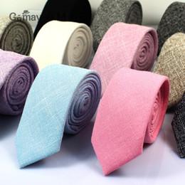 Wholesale korean suits ties - New cotton tie Korean men's Necktie Classic Narrow Version 6cm Male Suit Shirt Ties Bussiness Skinny Groom Necktie Accessories
