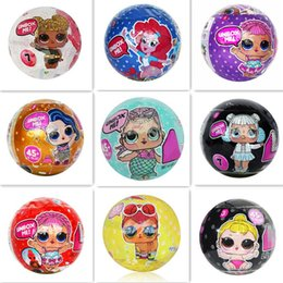baby toys new Promo Codes - 7 Patterns Mini Doll Series 2 LiL Sisters New Action Figures 10CM Ball Dolls Dress Up Baby Spray Water Dolls Toys for Girls Mermaid Pets
