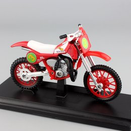 Wholesale Motor Bike Models - Scala 1:18 mini Bambino honda cr250r Motocross dirt motor cycle modellini in metallo Auto Moto Enduro equitazione bike modello giocattolo re