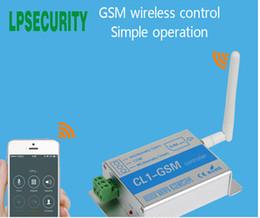 portão de gsm remoto Desconto Controle de Acesso Remoto Sem Fio CL1-GSM GSM Gate Abridor GSM SMS Interruptor Do Sistema De Segurança Em Casa Inteligente