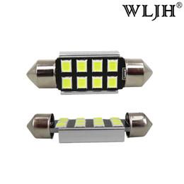 Wholesale 12v Work Lamp - WLJH White 36mm LED Festoon 6418 C5W Car Led Auto Interior Dome Trunk Door Light Lamp Bulb Pathway lighting 12V Work Lamp