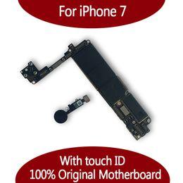 2019 iphone flex sensor original Für iPhone 7 32GB Motherboard 128GB mit Noten-Identifikation-Fingerabdruck, ursprüngliches freigelegtes Logikbrett Freies Verschiffen