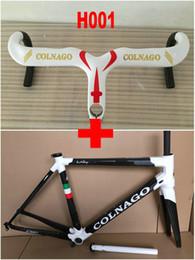 Wholesale Carbon Road Frames Colnago - Colnago C60 Carbon Fiber Road Bike Frameset+ Colnago Carbon Handlebar Carbon Bike Frame Glossy Matte Finish