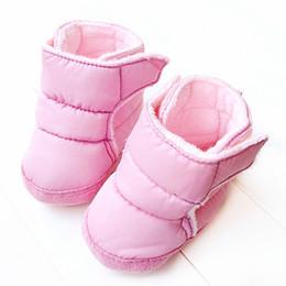 2019 botas de inverno rosa bebê menina 2018 Inverno Bonito Rosa Recém-nascidos Meninas Botas De Neve De Pano De Fundo Infantil Bebês Botas botas de inverno rosa bebê menina barato