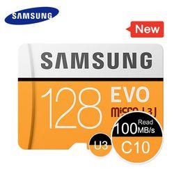 Carte sd 32gb livraison gratuite en Ligne-Samsung véritable carte micro SD de 128 Go haute vitesse EVO 4K ultra HD 8 Go 32 Go 100 Mo / s MB-MP128G TF carte livraison gratuite