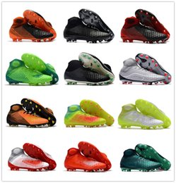 Wholesale Ground Green - Magista Obra II FG Mens Football Boots Ankle High Cheap Soccer shoes Cleats New Magistas 2 Soccer Boots Outdoor Soccer Shoes Firm Ground