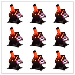 8 peças DMX512 Cryo FX Blast 5 m Mangueira Preta 3em1 RGB 12 * 3 w CO2 Nevoeiro Frio Máquina de Fumaça 70 w LED CO2 Jet Cannon de Fornecedores de tubo rápido