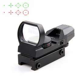 Soportes de 11mm online-20 / 11mm Tactical Holographic Riflescope Reflex 4 Reticle Rail Hunting Optics Red Green Dot Sight Tactical Sight Scope con soporte