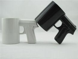 coffee mug shapes NZ - Creative Gun Style Handle Ceramic Coffee Water Mug Cup 400ml Funny creative pistol shape ceramic cup ceramic cup c253