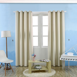 Wholesale Grommet Drapes Curtains - Wide Width Grommet TopThermal Insulated Window Blackout Curtain Solid Color Room Darken Drapes