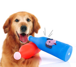 Wholesale Toy Beer Bottles - Beer Bottle Shape Pet Dog Sounding Toy Interactive Chews Toy Puppy Training Toy 19*5.5cm Pets Supplies
