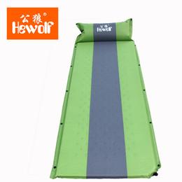 Colchón de picnic online-Hewolf Memory Sponge Camping Mat con almohada Colchoneta de playa portátil Colchón de picnic autoinflable a prueba de humedad