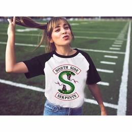 Riverdale Southside Serpents T Shirts Femmes Style Eté Nouveau Harajuku kawaii Raglan T-shirt Fille Fille Pour Femme Ulzzang Dessus ? partir de fabricateur