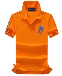 Chemises marques chine en Ligne-NOUVEAU 100% coton Chine Marque Petit Cheval Col Montant POLOS mode homme été à manches courtes POLO shirt hommes occasionnels Designer POLOS TOPS