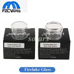 Wholesale tube bulbs - Authentic Freemax Pyrex Glass Tubes for Fireluke Tank & Fireluke Mesh Tank Bulb Glass Replacement with Single Package 100% Original