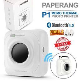 Wholesale Mini Photos - PAPERANG P1 Thermal Printer Portable Bluetooth 4.0 Receipt Printer Photo Printer Phone Wireless mini printers 1000 mAh Lithium-ion