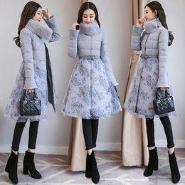 Wholesale Ladies Hooded Cloaks - 2017 winter new cloak coat jacket female long section temperament ladies Korean down cotton loose cotton jacket