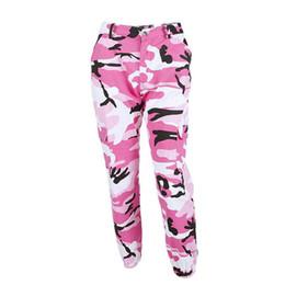 Camouflage yoga hose online-Vertvie Marke Lose Camouflage Hose Frauen Fitness Fitness Gym Sport Hosen Denim Tasche Jogger Hosen Gedruckt Yoga Sportswear