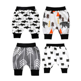 Wholesale Red Leggings 3t - Baby Toddler Cropped Pants Boy Harem Shorts Cropped Leggings Cropped Trousers Odell Breathable Summer Pants 1-3T