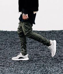 Wholesale Open Pants - Men's Hip Hop Casual Trousers Pants Zipper Side Open Casual Pants Men Casual Jogger Zip Pant