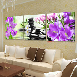 Wholesale Orchid Paintings Canvas - Wholesale-XIN SHENG MEI Oil Painting Canvas Wall Art Pink Orchids Decoration Art Modular Pictures On The Wall Sitting Room Poster 3P043