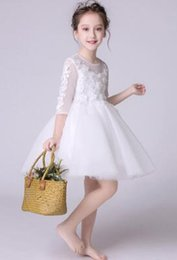 Wholesale white child suits - skirt girl 2018 new princess dress child summer skirt performance suit Holiday party dress