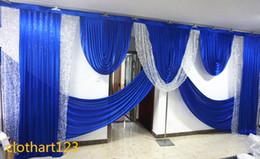Argentina 6 m de ancho boda swag de lentejuelas de plata diseños boda swag estilista para el telón de Fondo de la etapa Etapa cubre cortinas cliente hecho Suministro